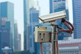CCTV surveillance camera in Singapore — Stock Photo