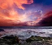 Rocky coast. Sunset — Stock Photo