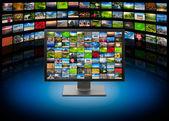 Tv ve multimedya arka plan görüntüleri — Stok fotoğraf