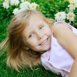 Five years old girl - Stock Photo
