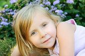 Niña de cinco años — Foto de Stock