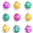 Christmas balls set — Stock Photo #7630260