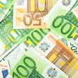 Stock Photo: Background from euro banknotes