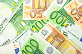 Background from euro banknotes — Stockfoto