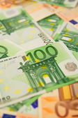 Background from euro banknotes — 图库照片
