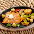 Salmon Steak with Vegetable - Photo