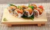Japanese sushi maki — Stock Photo