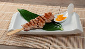 Japanese skewered chicken,Yakitori — Foto de Stock