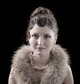 Woman retro revival portrait. — Stock Photo