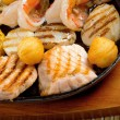 Stock Photo: Seafoods with vegetable