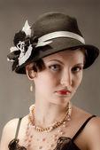 Woman retro revival portrait — Stock Photo