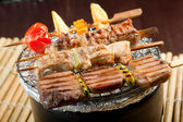 Japanese skewered meat — Stock Photo