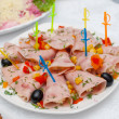 Ham with cheese. - Stock Photo