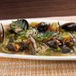 Mussels with vegetable and nut — Stock Photo #7400489