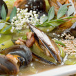 Mussels with vegetable and nut — Stock Photo #7400682