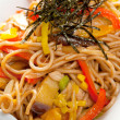 Noodles with chicken and vegetables — Stock Photo #7400744