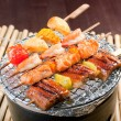 Japanese skewered seafoods — Stock Photo #7400824