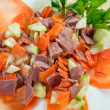 Healthy salad of  beef tongue — Stock Photo
