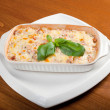 Lasagna with beef .Italian cuisine - Stock Photo