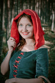 Red Riding hood standing — Stock Photo