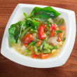 Minestrone vegetable soup — Stock Photo