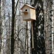 Wooden starling-house — Stock Photo