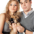 Portrait of young couple — Stock Photo