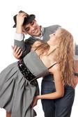 Retrato de casal jovem brincalhão — Fotografia Stock