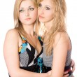 Portrait of two attractive young women — Stock Photo