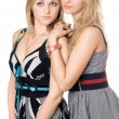 Portrait of two pretty young women — Stock Photo