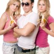 Portrait of three pretty young — Stock Photo