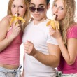 Portrait of three young — Stock Photo