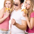 Portrait of three playful young — Stock Photo #6916263