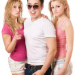 Two lovely women and handsome young man — Stock Photo
