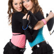 Portrait of two happy attractive young women — Stock Photo #6979095