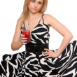Attractive young woman with a cocktail — Stock Photo