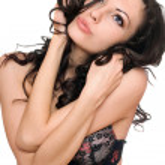 Portrait of playful beautiful brunette. Isolated on white — Stock Photo #7228662