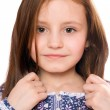 Portrait of pretty little girl. Isolated — Stock Photo #7267020