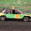 Постер, плакат: Race for survival Green yellow car