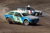 Race for survival. Two cars — Stock Photo
