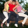 Two blonde and young man — Stock Photo