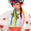 Girl in the Ukrainian national clothes - Stock Photo