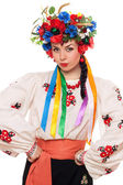 Girl in the Ukrainian national clothes — Stock Photo