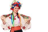 Woman in the Ukrainian national clothes — Stock Photo