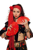 Portrait of sensual gypsy woman — Stock Photo