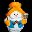 Candle snowman — Stock Photo #7924932