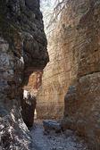 à l'intérieur du canyon de roche — Photo