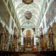 St. Peter Abbey Church inside. Salzburg, Austria - Stock Photo