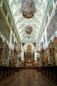 St. Peter Abbey Church inside. Salzburg, Austria — Zdjęcie stockowe