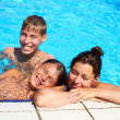 Stock Photo: Happy Family Pool
